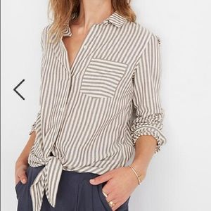 NEW Madewell Tie Front Shirt in Maitland S…